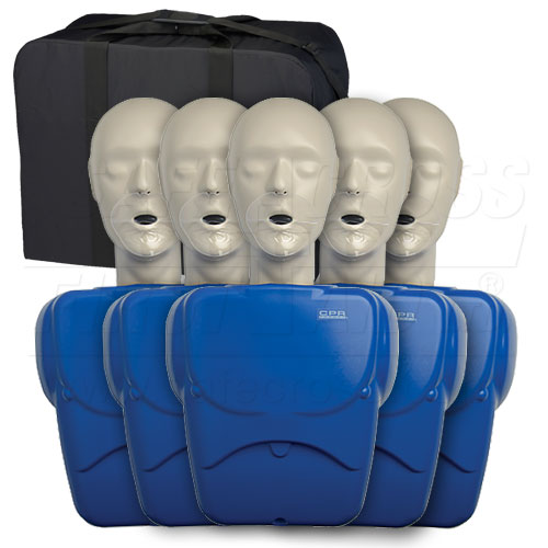 CPR Prompt Training Kit with 5 Adult/Child Manikins