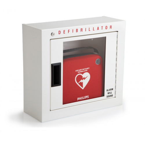 Philips AED Cabinet - Basic Surface Mount, with Audible Alarm, Bilingual English-French