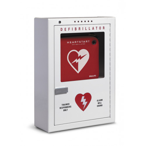 Philips AED Cabinet - Premium Surface-Mount with Audible Alarm and Strobe Light, English