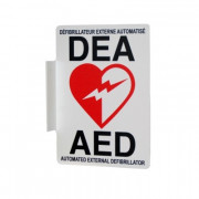 Philips AED Wall sign, bilingual (French/English)