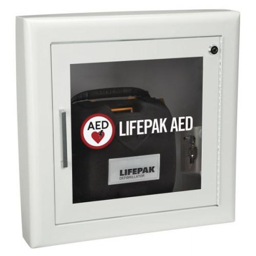 Physio-Control Semi Recessed Wall Cabinet (White) w/ Alarm