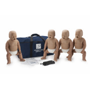 Prestan Professional Infant CPR-AED Training Manikin (With CPR Monitor) 4-Pack Dark Skin