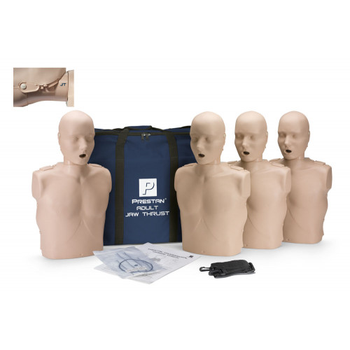 Prestan Professional Adult CPR-AED Training Manikin With Jaw Thrust Head (Without CPR Monitor) 4-Pack