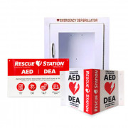 RescueStation AED Cabinet and Sign Package