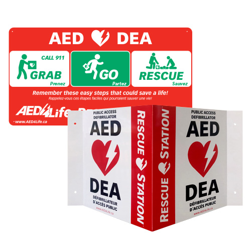 RescueStation™  AED Sign Package