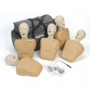 CPR Prompt, Training Kit, w/5 Adult/Child Manikins- Tan Color
